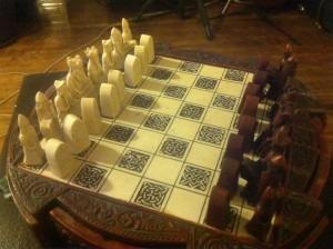 Ancien jeu d'échecs